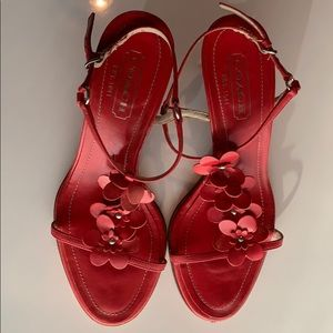 Coach Shoes - Coach red leather sandals